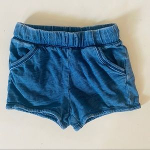 Cat & Jack Blue Chambray Indigo Shorts 18mo